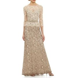 Shop for Tadashi Shoji Two-Tone Lace Gown at Dillards.com. Visit Dillards.com to find clothing, accessories, shoes, cosmetics & more. The Style of Your Life.
