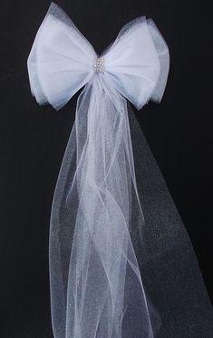 "BROWN IVORY WEDDING 8/"" PULL PEW BOWS BRIDAL SHOWER"