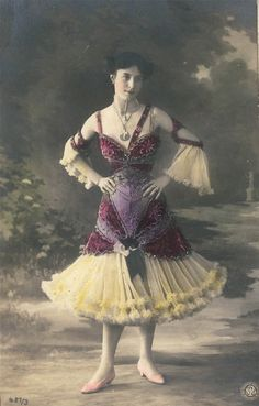 vintage photo postcard French 1906 Beautiful Dancer Carte Postale