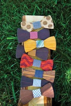Tie one on - wooden bow ties by Two Guys Bow Ties