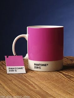 PANTONE Universe Fine China Mug 239C in Hot Pink/Bubble Gum