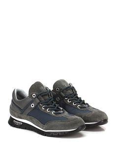 PACIOTTI 4US - Sneakers - Uomo - Sneaker in camoscio, pelle e tessuto tecnico con logo su lato esterno e suola in gomma extra light. Tacco 30, platform 20 con battuta 10. - GREY\BLU