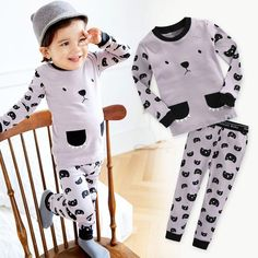 ac7e95ddae58 Details about Vaenait Baby Toddler Kids Boys Girls Clothes Pajama Set