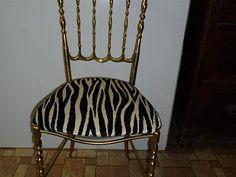 Prodám mosaznou židli, nové čalounění,mám ještě jednu jinou