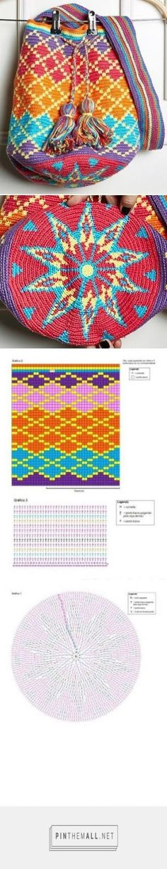 Use tapestry crochet to work up this gorgeous and bright crochet bag for fall