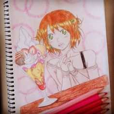 manga Esa es mi cara cuando veo un helado así *-* #draw #drawing #mydrawing #manga #mangadrawing #instadraw #instamanga #mangagirl #anime #animedrawing #art #artist #mangaart #mangalover #fanmanga #mangaka #comic #mycomic #animeartist #icecream #helado #girl #eyesgreen #illustration #artwork