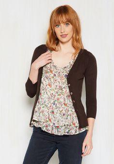 50a4b885ec9 Charter School Cardigan in Chocolate. Show your style smarts in this  versatile cardigan!