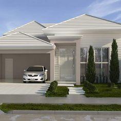 Porch House Plans, Bungalow House Plans, Bungalow House Design, Small House Exteriors, Modern House Facades, House Outside Design, House Front Design, Minimalis House Design, Morden House