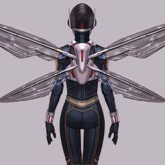 Ant-Man And The Wasp || Hope van Dyne (Wasp) Wasp Costumes, Villain Costumes, Superhero Villains, Marvel Characters, Marvel Vs, Marvel Dc Comics, Dc Comics Women, Antman And The Wasp, Superhero Design
