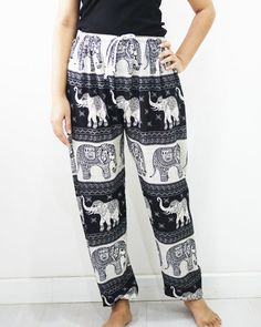 Boho woman casual pants hippie pants spring summer by TungMay
