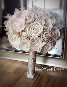 Vintage Wedding Bouquet Sola flowers Alternative bouquet