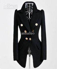 Wholesale Fashion Jacket - Buy 2014 Autumn Coats Fashion Jacket Large Lapel Slim Wool Blend Women's Jackets, $41.47 | DHgate.com