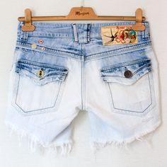 Dearest Jackdaw: TUTORIAL - How to Bleach Ombre Denim Shorts
