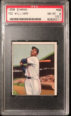 ea91edd152a Today s Find  1950 Bowman  98 Ted Williams. PSA 8 NM-MT OC