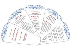 DIY Fan Wedding Program  Customizable PDF File by thetypetree