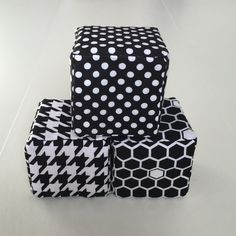 Soft Stackable Blocks- B & W by MunchkinLaneBoutique on Etsy