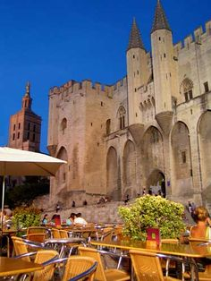 The Pope's Palace during the Avignon Papacy, Avignon, Provence, France by Maggie Clarke