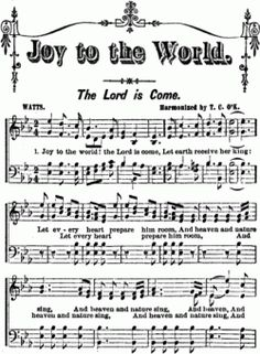 "Joy to the World is one of the most known and loved traditional Christmas carols. The words to this amazing song were written by Isaac Watts, ""the father of English hymnody"", and the music from the extraordinary George F. Christmas Carol, Vintage Christmas, Christmas Holidays, Christmas Crafts, Valentine Crafts, Christmas Sheet Music, Vintage Sheet Music, Joy To The World, Christmas Printables"