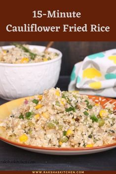 15-minute cauliflower rice is a low-carb healthy recipe made with grated cauliflower or shredded cauliflower in under 15 minutes. This super easy recipe which looks exactly like fried rice. This is gluten free recipe. #glutenfree #cauliflower #friedrice #cauliflowerfriedrice #15minute #lowcarb