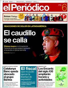 Los Titulares y Portadas de Noticias Destacadas Españolas del 6 de Marzo de 2013 del Diario El Periodico de Catalunya ¿Que le pareció esta Portada de este Diario Español?
