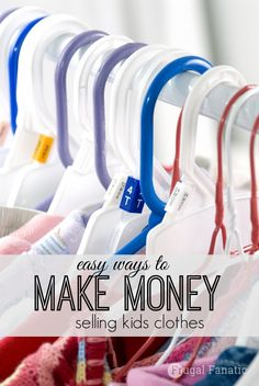 Did you know that you can make money selling kids clothes both online and locally? Not only is this a great way to earn some extra money, but it is a nice way to de-clutter your child's closet or dresser. Plus, kids grow out of clothing extremely quick so by selling the clothes that no longer fit them you can use that money to put towards new clothing.