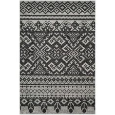 Safavieh Adirondack Silver/Black 5.08 ft. x 7.5 ft. Area Rug-ADR107A-5 at The Home Depot