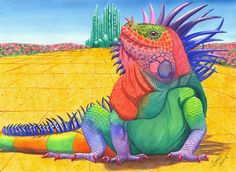 Lizard Of Oz Art Print By Catherine G McElroy