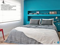 Camera Da Letto Parete Turchese : Fantastiche immagini su arredamento camera da letto nel