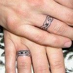 Infinity wedding ring tattoo