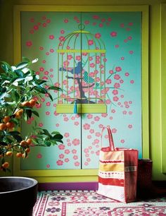 Colorful entryway in Marie Claire Maison