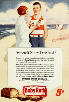 It's the sweetest story ever sold! #graphicdesign #vintage #ads