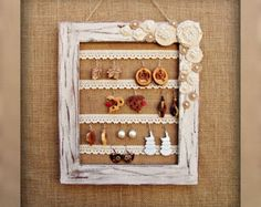 Repurposed Vintage Double Picture Frame Jewelry Display