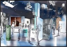 """Visualisation of our new exhibition space - Zone """"Reform and Innovation"""". Interactive Exhibition, Exhibition Space, Design Museum, Stamp Collecting, Innovation, New Homes, London, Interactive Display, London England"""