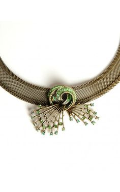 Ava Necklace in Green