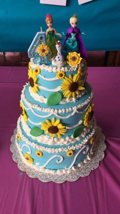 Frozen fever birthday cake