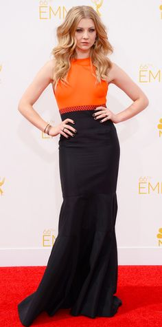 Emmy Awards 2014 Red Carpet Photos - Natalie Dormer from #InStyle - Natalie looks amazing and I love the dress!