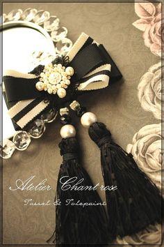 Blackのタッセルで・・・ の画像|京都 タッセル・トールペイント教室 Atelier Chant rose