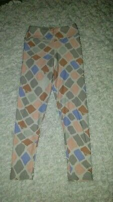 LuLaRoe Kids Leggings S//M Small Medium Black Pink Green Purple Design