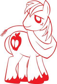 My Little Pony FiM Big Macintosh Vinyl Decal by VinylVision, $4.00