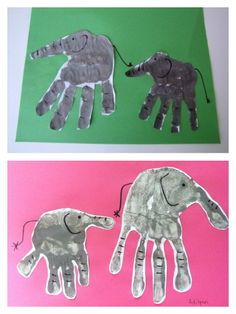 Elephant handprint craft <3