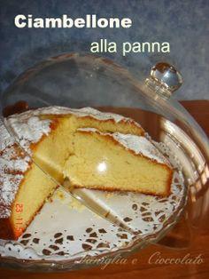 vaniglia e cioccolato: Ciambellone soffice alla panna