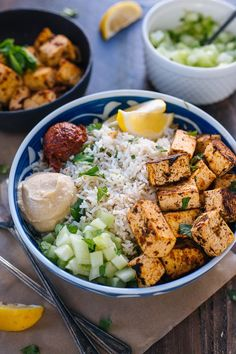 Spicy Tofu Rice Bowl (CAVA copycat)