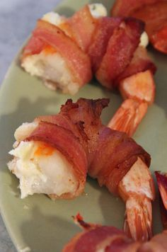 Bacon Wrapped Crab Stuffed Prawns
