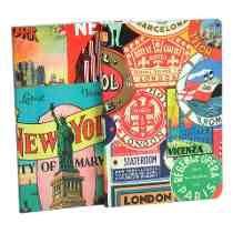 Cuaderno.diseño Cities Set X 2.hojas Blancas Lisas Organizza