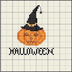 Halloween Pumpkin Cross Stitch