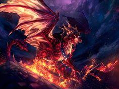 Anime Fire Dragon Wallpaper