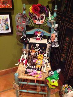 Treasures of the Gypsy- Dia de Los Muertos gallery Sugar Skulls, Day Of The Dead, Halloween, Gypsy, Gallery, Art, One Day, Death, Day Of Dead