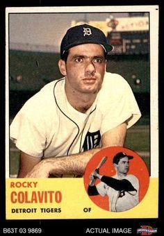 1963 Topps #240 Rocky Colavito Tigers EX #Tigers