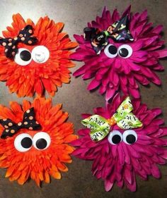 Hair bow (Aubry Leger , I& making these for Ava and Alexa! Ribbon Hair Bows, Diy Hair Bows, Diy Bow, Bow Hair Clips, Barrettes, Hairbows, Halloween Bows, Ribbon Sculpture, Making Hair Bows
