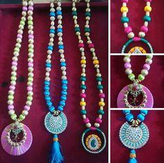 Silk necklaces